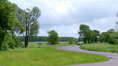 Country Road - Rural France Stock Footage