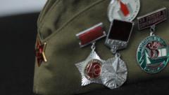 Soviet Medals Stock Footage
