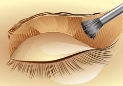 eyeshadow - stock illustration