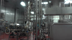 Cleaning industrial food manufacturing equipment HD 023 Stock Footage