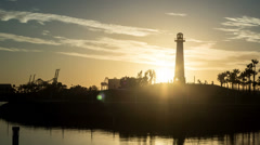 Long Beach Harbor Sunset Time Lapse Video Stock Footage