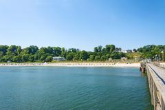 Stock Photo of göhren beach, rügen, view from pier