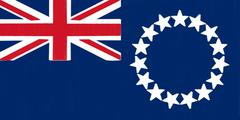 Cook islands flag drawing by pastel on charcoal paper Stock Illustration