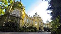 Vajdahunyad Castle in Budapest Stock Footage