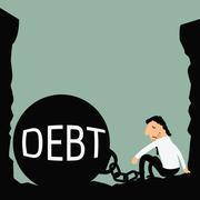 debt trap - stock illustration