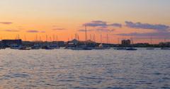 4K - Boston waterfront at sunset - massachusetts USA Stock Footage