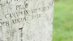 WWII British Pilot Grave Stock Footage