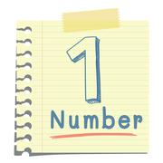 number one - stock illustration