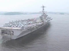 Aircraft Carrier USS George Washington Stock Footage