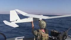 Unmanned aerial vehicle training uav Stock Footage