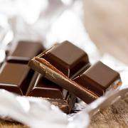 chocolate in aluminum foil - stock photo