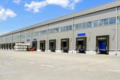 Stock Photo of warehouse cargo doors