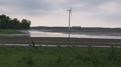 Stock Video Footage of Flooded and contaminated farm fields after heavy rain