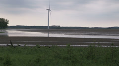 Flooded and contaminated farm fields after heavy rain Stock Footage
