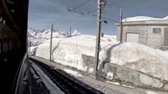 Timelapse Gornergrat Bahn to Riffelberg Stock Footage