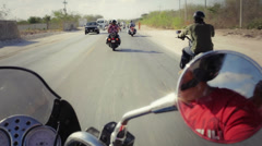 Group of moto bikers Stock Footage
