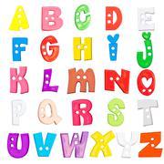alphabet baby plastic letters set - stock photo