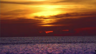 Sunset in paradise Stock Footage