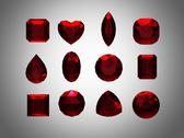Stock Illustration of group of  garnet  shape with clipping path