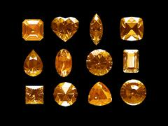 group of imperial topaz with clipping path - stock illustration