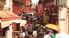 Qibao crowded market 1 Stock Footage