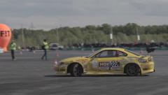 Race car on the track Stock Footage