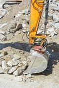 Stock Photo of heavy construction excavator