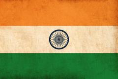 india flag drawing ,grunge and retro flag series - stock illustration
