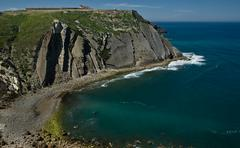 espichel cape cliffs and sanctuary - stock photo