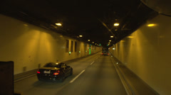 Denmark driving truck POV highway tunnel Stock Footage
