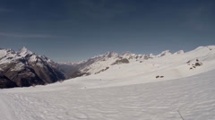 Matterhorn panorama in lonesome alps area Stock Footage