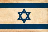 Stock Illustration of israel flag drawing ,grunge and retro flag series