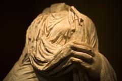 roman toga sculpture - stock photo