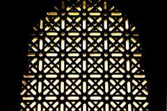 Mosque windows latticework Stock Photos