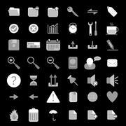 Basic web icon set Stock Illustration