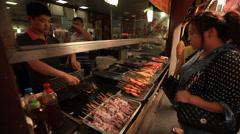 Qibao market vendor 16 Stock Footage