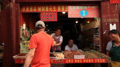 Shanghai Qibao market vendor 6 Stock Footage