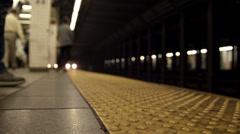 MTA Subway Train Station Platform New Yorkissa NYC USA Arkistovideo