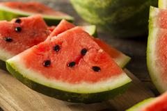 ripe healthy organic watermelon - stock photo