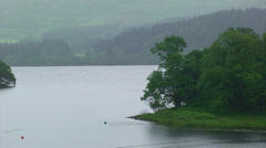 Strait between two main arms of a sea loch, detail Stock Footage