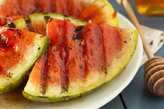 Ripe healthy organic grilled watermelon Stock Photos
