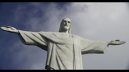 Stock Video Footage of 5K UHD Timelapse Christ The Redeemer Statue/Clouds Rio De Janeiro, Braziil