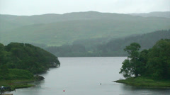 Strait between two main arms of a sea loch Stock Footage