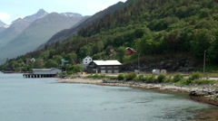 Europe Norway Isfjord small town of Åndalsnes 013 shore and landscape Stock Footage
