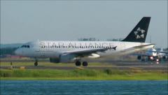 USAirways Star Alliance airplane Stock Footage