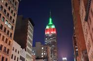 Stock Photo of empire state building night view