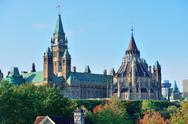 Stock Photo of ottawa parliament hill building
