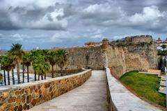 royal fortress of ceuta - stock photo