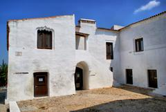 building in moura, alentejo - stock photo