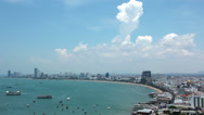 Stock Video Footage of 4K (4096x2304) Timelapse: Panorama view of seascape at Pattaya bay, Thailand